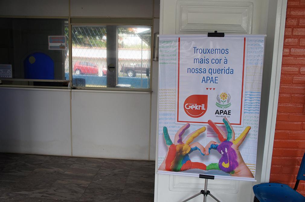 Gekril leva mais cor à Apae de Vila Velha